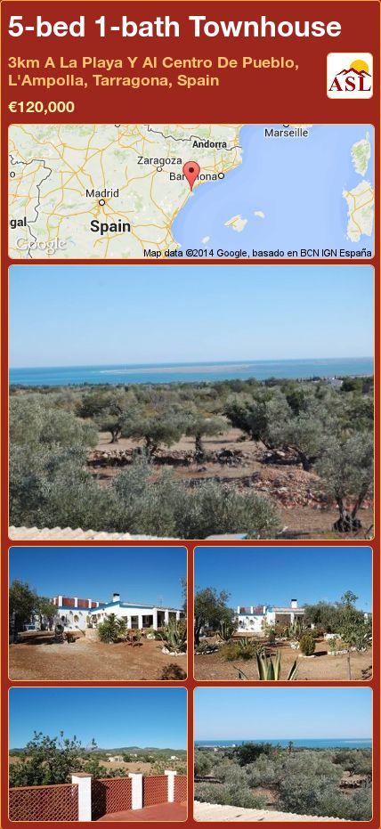 5-bed 1-bath Townhouse in 3km A La Playa Y Al Centro De Pueblo, L'Ampolla, Tarragona, Spain ►€120,000 #PropertyForSaleInSpain