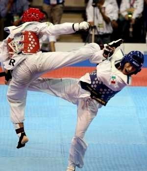 TAEKWONDO. In red Heiner Oviedo will  represent Costa Rica at the Summer Olympic Games in London
