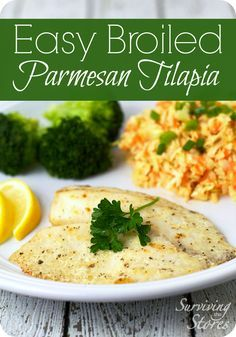 Easy Broiled Parmesan Tilapia! This recipe is great for fast and healthy weeknight dinners!