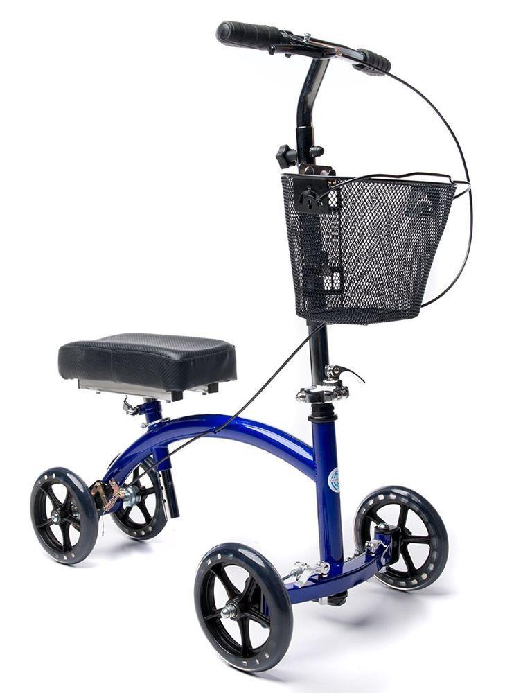 KneeRover Deluxe Steerable Knee Cycle Knee Walker Scooter Crutch Alternative NEW #KneeRover