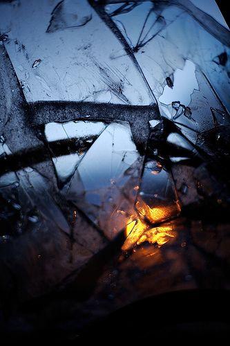 Broken glass photography