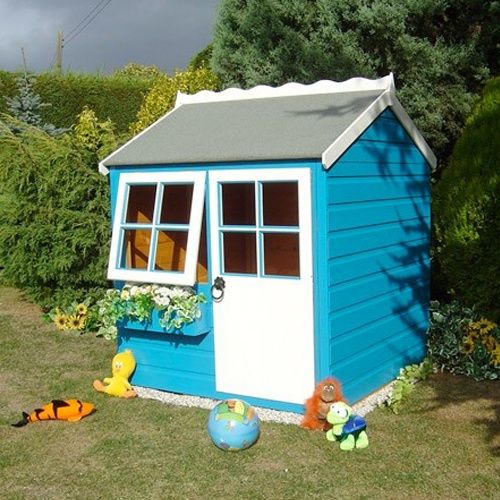 52 best images about wendy house on pinterest for Wooden wendy house ideas