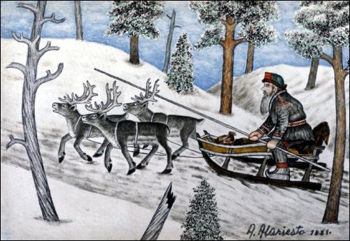 Andreas Alariesto was an artist in Lapland, Finland
