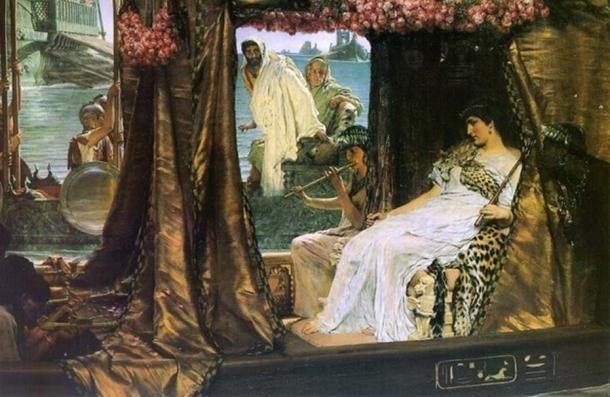 """The Meeting of Antony and Cleopatra""  by  Lawrence Alma Tadema."
