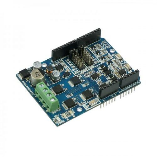 """Cytron 10A Motor Driver Shield (Arduino)""""SHIELD-MD10"""" is a compatible Arduino motor shield for controlling high current brushed DC motor up to 10A..."""