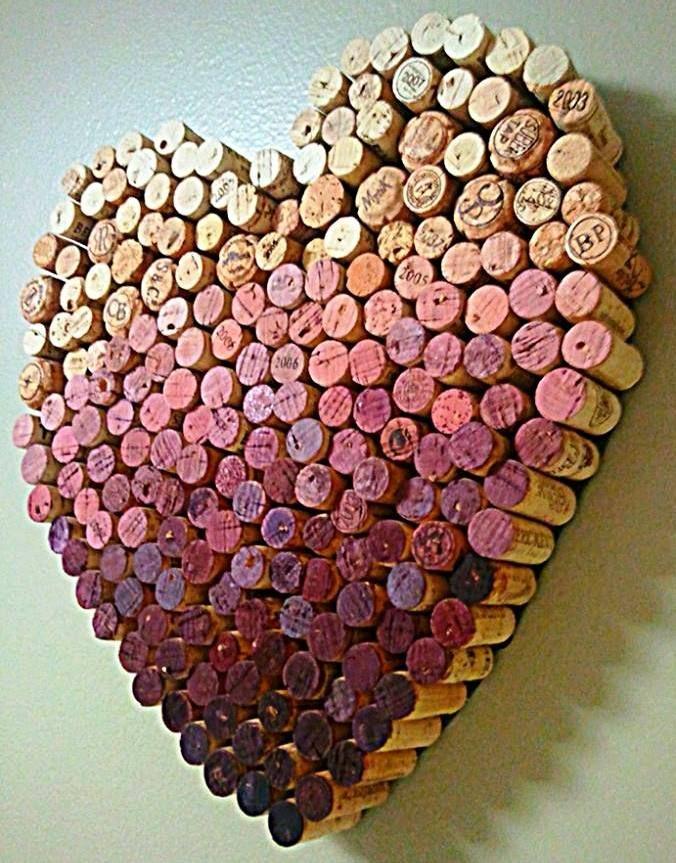 A pretty and romantic Ombre Wine Cork Heart