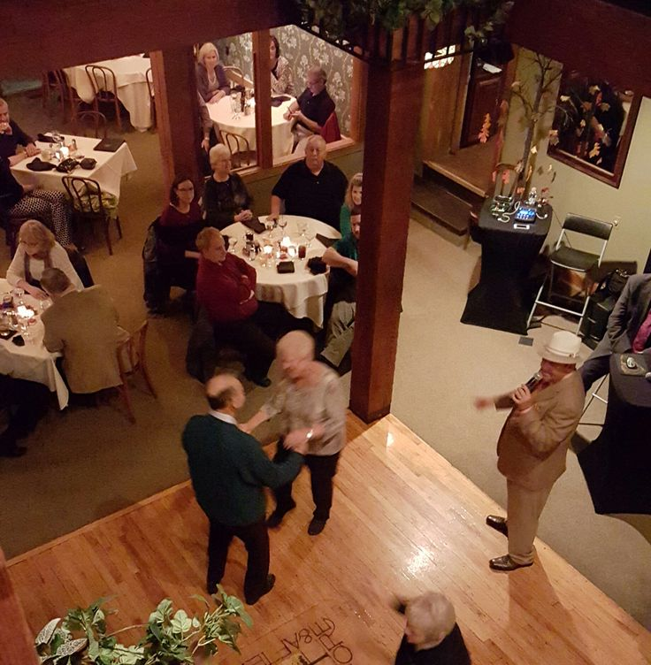 The Dance Floor With A View From Balcony Of Lakeside Banquet Room Couples