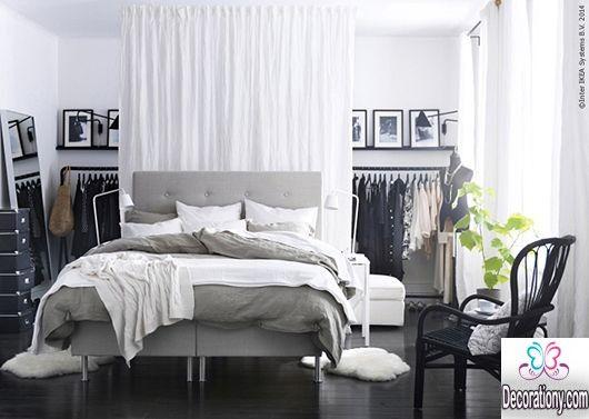 modern bedroom closets design 13 Creative Walk in Wardrobe Behind Bed Designs