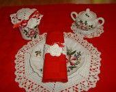 Romantica apparecchiatura da prima colazione all'uncinetto con le rose in pizzo : Cucina e servizi da tavola di i-pizzi-di-anto