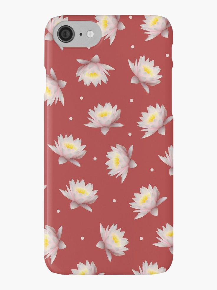Iphone Floral Case - perfect for Summer!   #iphone7 #iPhone7Plus #iPhone6 #iphone6s #iphone6splus #iphone6splus #iPhoneSE #iphone5 #iPhone5c #iphone5s #iphone4 #iphone4s #flowers #lotus