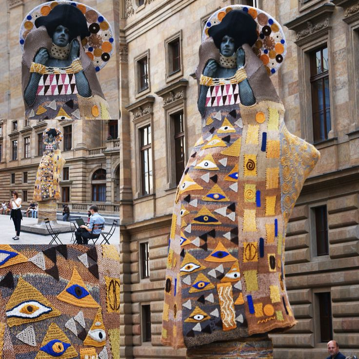 Výsledek obrázku pro knitted klimt prague