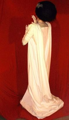 Bride of Frankenstein costume tutorial. Simple!  Do this!  Only problem now is the hair...