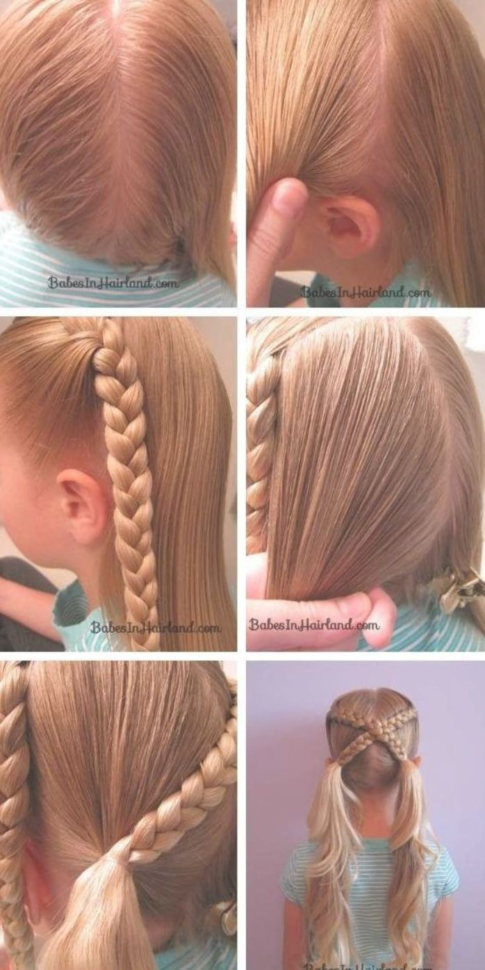Braid Girl Hairstyle The Best Braids Pigtails For Little Girls Braid Braids Girls Hairstyle Little Pig Hair Styles Girl Hair Dos Little Girl Hairstyles