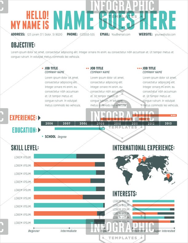 26 best Resume images on Pinterest Infographic resume - how ro make a resume