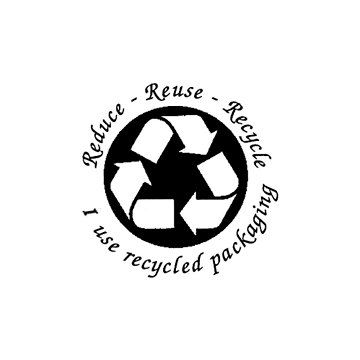 Reduce Reuse Recycle I use Recycled Packaging Rubber by terbearco, $12.99