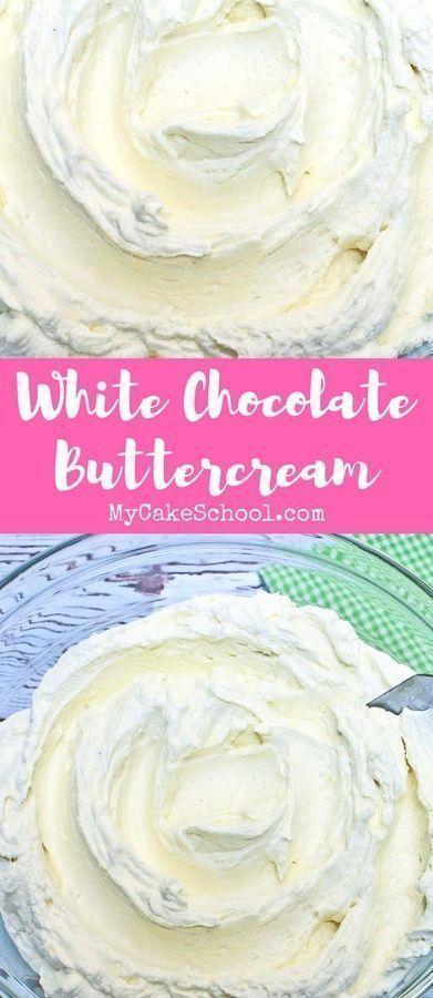 White choc buttercream frosting recipe