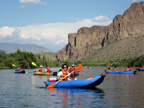 Attractions of Mesa Arizona: Things to see and do anytime of year! Kayaking the Salt River. #Southwest #SonoranDesert #OffbeatTravel