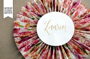 DIY: Paper Fan Place Cards