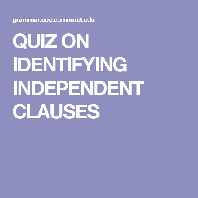 independent and dependent clauses quiz pdf