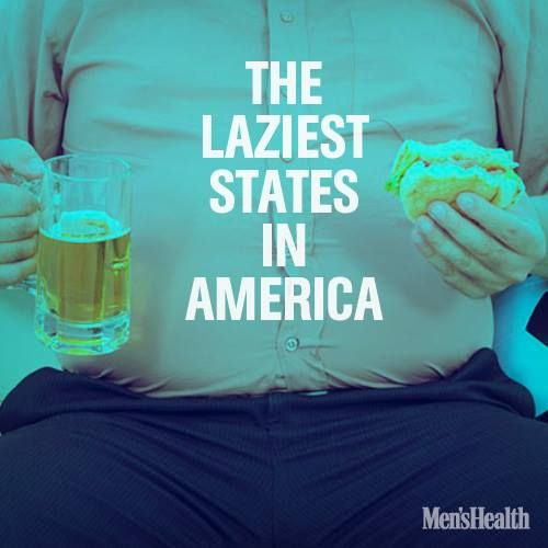 Are you an above-average exerciser? It's not that hard. The CDC reveals the 10 most sedentary states in America according to a new report that looks at how states across the country support physical activity, revealing one in four people across the U.S. admit doing no voluntary exercise at all. #lazy #run #workout #fitness #health #physicalactivity http://www.menshealth.com/health/sedentary-states?cid=soc_pinterest_content-health_july14_lazieststatesinamerica