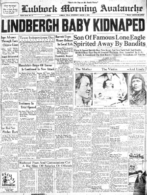 An event that no parent should have to endure took place in the lives of Charles Lindbergh and his wife, Anne. On the evening of March 1st 1932, the couple's 20 month old son, Charles Jr. , was abducted from their New Jersey home