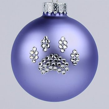 Lilac Paw Print Ornament - Dog and Cat Paw Print Christmas Tree Ornaments - Pet Ornaments