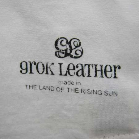 GROK LEATHER RAGLAN T:WHT×BLK - DAYTRIPPER デイトリッパー