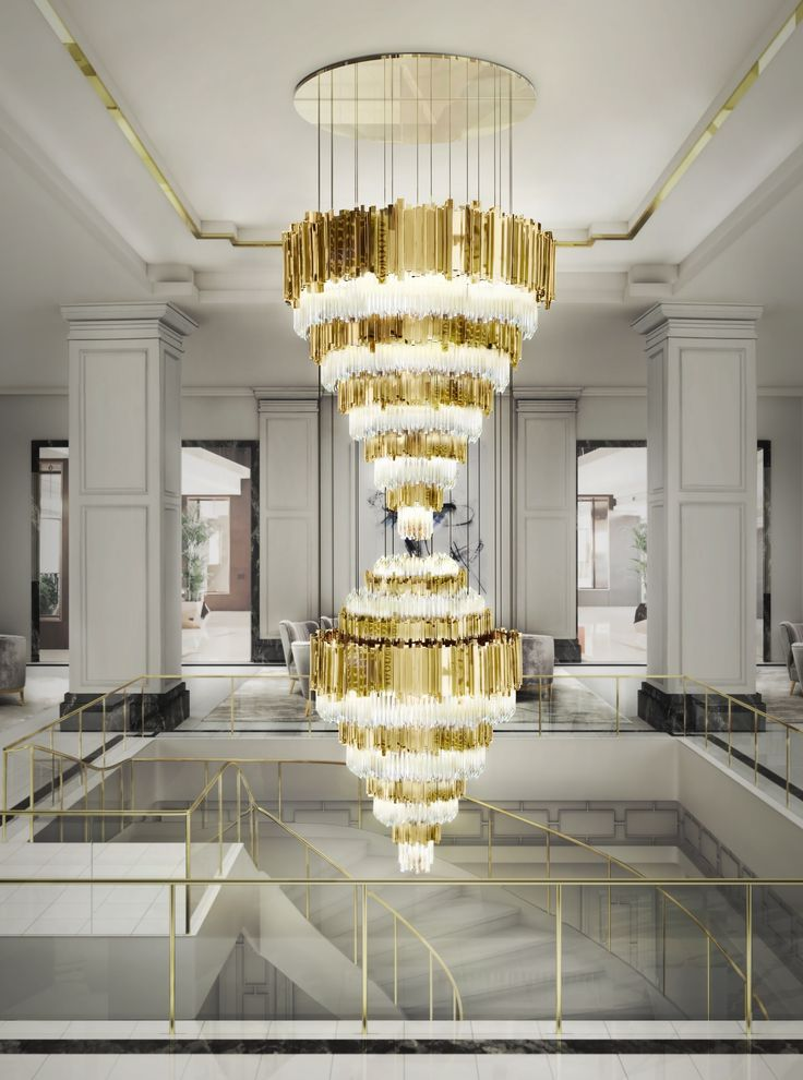 Inspiring Contemporary Chandeliers In Interior Design Projects