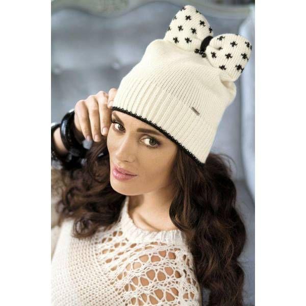 Wełniana czapka damska Kamea Berta