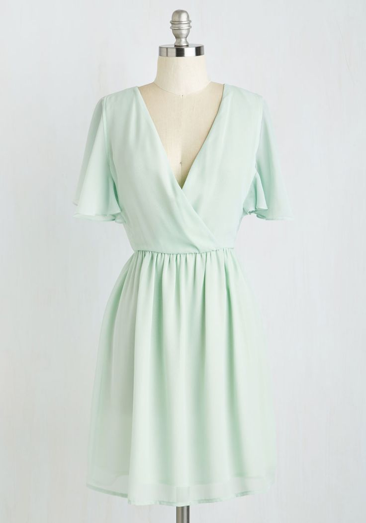 A Dance with Romance Dress. Lovingly sway into this soft mint dress and feel your heart swell with stylish bliss! #mint #modcloth