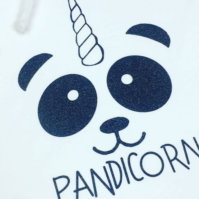 If all else fails... just be a PANDICORN 🐼🦄🐼🦄🐼 LOVE this new design for a little ones monochrome themed party with our Black Fur Sliders 😍 CREATE YOUR OWN TSHIRT for any occasion via our website >>> www.dollymixboutique.com 🖤