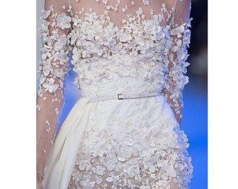 3D Ivory Spitze Stoff Spitze Hochzeit bestickte Spitze von lacetime