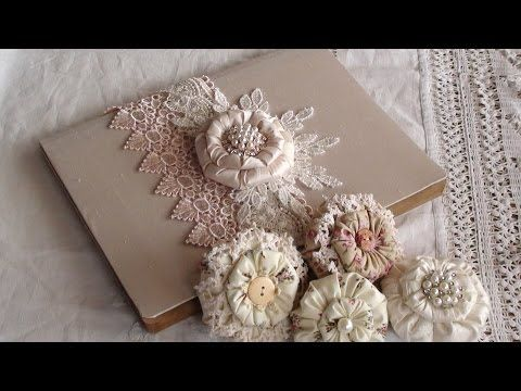 Lace and satin flower tutorial. - YouTube