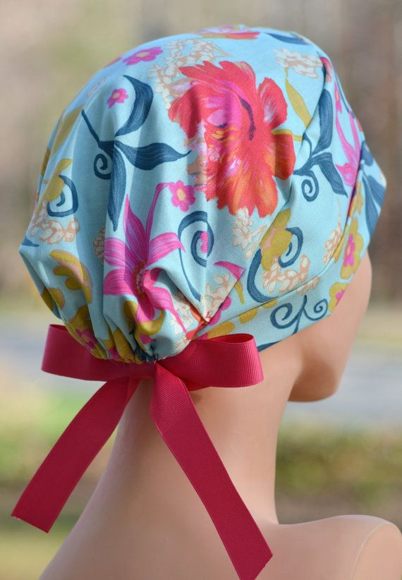 Womens Surgical Scrub Cap THE MINI Tahiti by thehatcottage on Etsy, $15.50