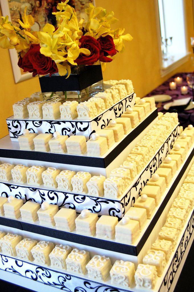 Petit Fours Wedding Cake