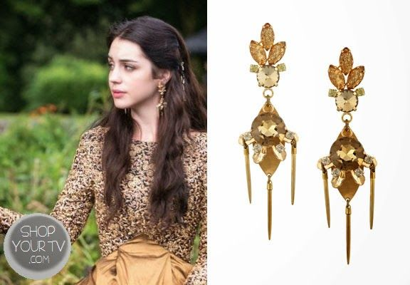 Shop Your Tv: Reign: Season 1 Episode 5 Mary's Gold and Crystal Earrings