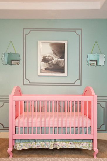 "Pink Crib..? For a little girl? Maybe :: The ""Hope"" Crib, Changer"