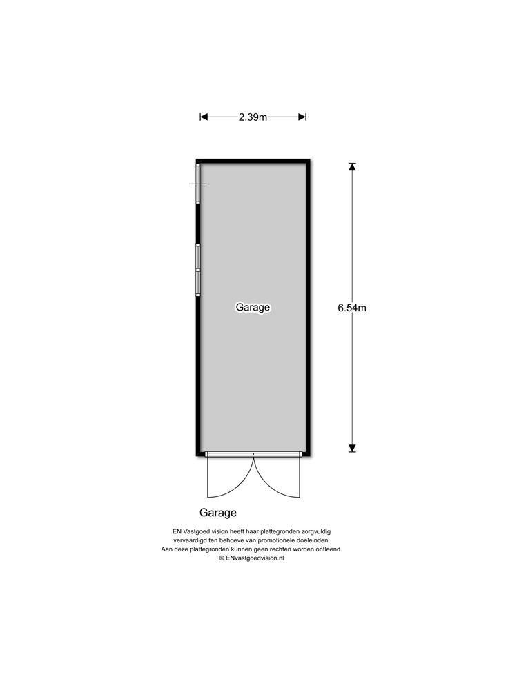 Floorplan Garage, Plantsoenlaan 17, Bloemendaal
