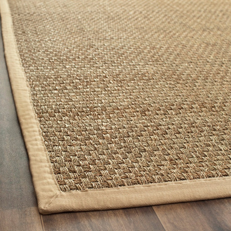 Highlight Your Home Decor With A Hand Woven Natural Fiber Rug Casual Features Background Beige Border Seagr Area Is