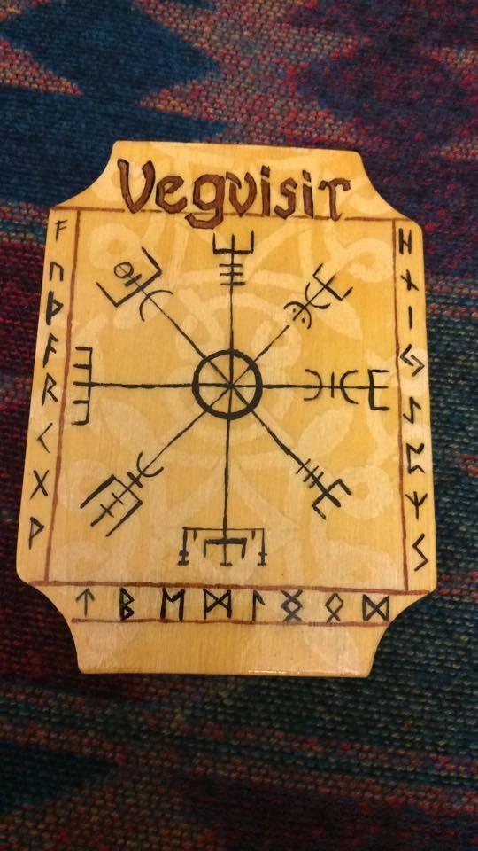 Vegvisir  (Norse Compass) Altar Tile by WyrdWytchWayz on Etsy