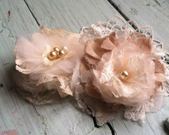 Shabby Chic Linen Lace Antique Corsage by RhysandRaesCreations, $4.50  Linen & Lace Fabric Flowers, Shabby Chic, Cottage Chic, Vintage Inspired Wedding... by RhysandRaesCreations http://etsy.me/VT26Of via @Etsy
