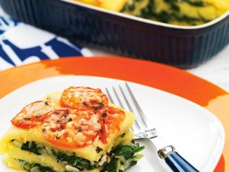 Polentakaka med fänkål och parmesan