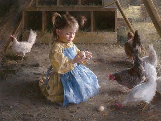 This was how my sister & I learned about chickens & eggs @ our Granny's in Arkansas. Thanks Mom for going home often.