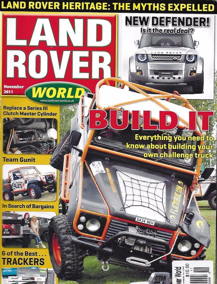 Land Rover magazine DIY truck build Defender Best trackers Clutch cylinder