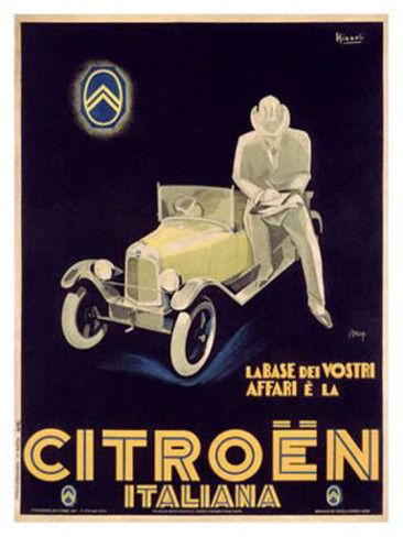 Citroen Giclee Print by Marcello Nizzoli at AllPosters.com