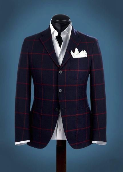 pattern blazer with pocket flairs