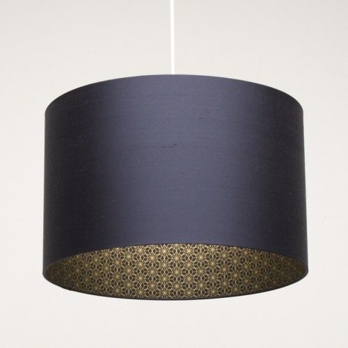 Accessories, : Insiring Home Accessory Design Of Pendant Lamp With Dark  Blue Drum Lamp Shade For Bedroom Decoration