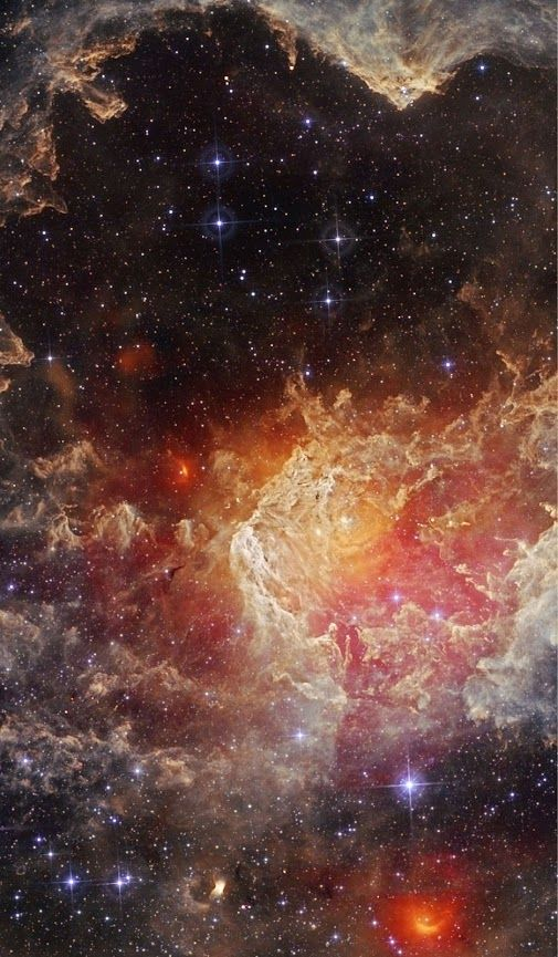 #Stars and #pillarsofdust in #NGC7822 from WISE | NGC 7822 appears full of Star young hot and of pillars of gas and of dust. This star-forming region is about 3,000 years light-years away, on the edge of a giant molecular cloud which is in the Northern constellation Cepheus. Within the Nebula, the edges bright and them complex sculptures of powder dominate this landscape celestial captured in light infrared by the satellite Wide Field Infrared Survey Explorer (WISE) of the NASA.