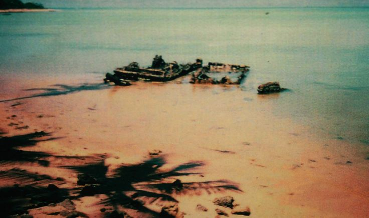 Rusted LVTs on the Tarawa Beach: