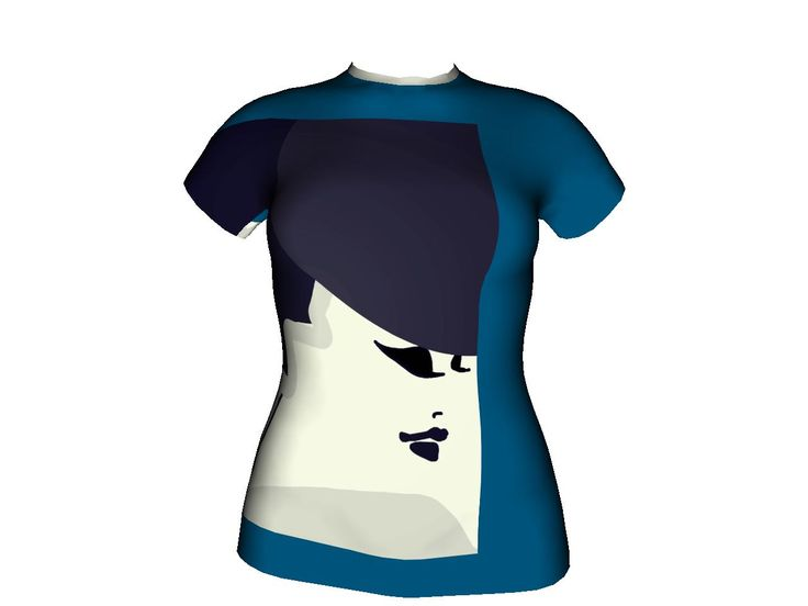 "All over T-Shirt design ""Blu HAT"" by Reginaqueen13. Create your own T-Shirt or open your own shop."